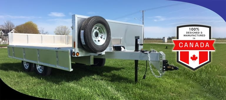 Our Custom Aluminum Trailers Are Designed and Built in Canada