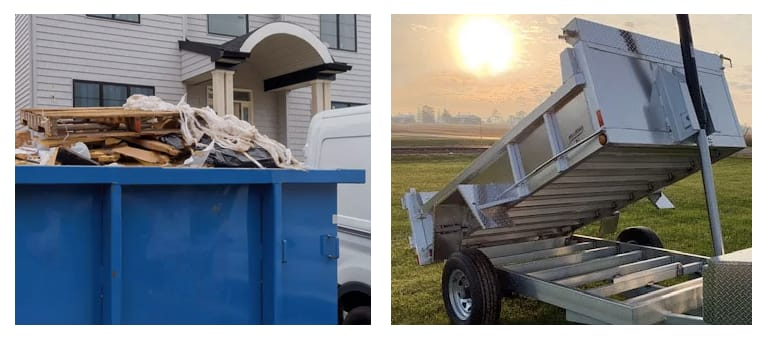 Dumpsters vs Dump Trailers