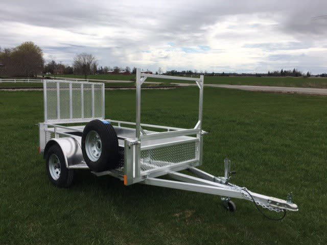 MS48DW FRONT DROP WALL W/ RACK INSERT & MOUNTED SPARE TIRE