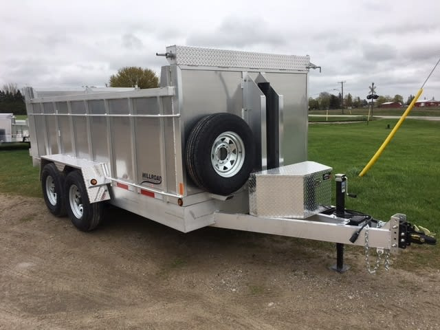 MD714 W/ 4′ SIDES  MOUNTED SPARE TIRE