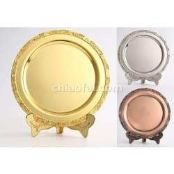 金屬紀念盤(金銀銅色)1
