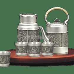 純錫茶具、茶葉罐