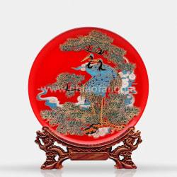 033 仙鶴延年(鏡面線雕) (2)