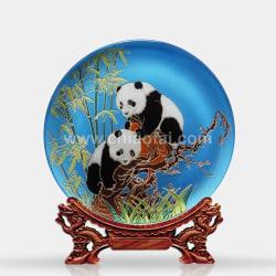 037 熊貓(鏡面線雕) (1)