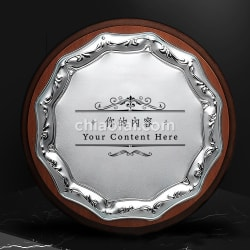 木製圓形金屬片獎牌 (2)