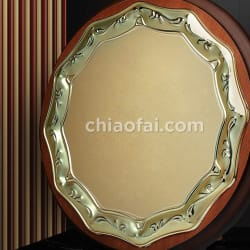 木製圓形金屬片獎牌 (3)