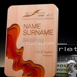 實木雕刻樹脂獎牌4