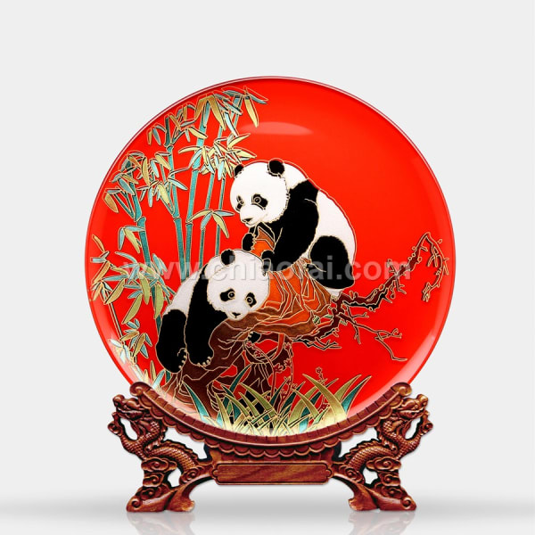 037 熊貓(鏡面線雕) (2)