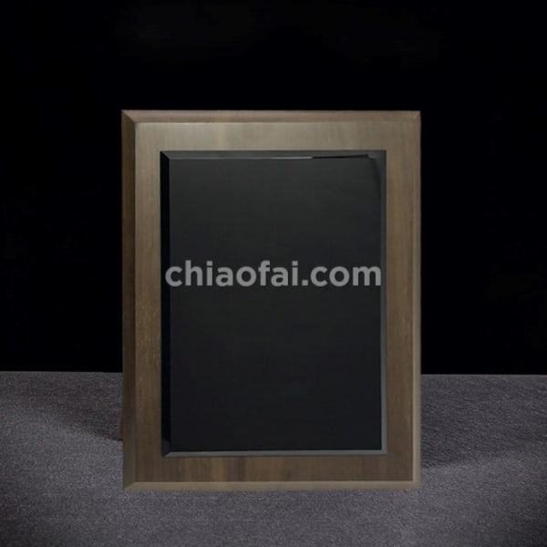 黑胡桃木色水晶獎牌3