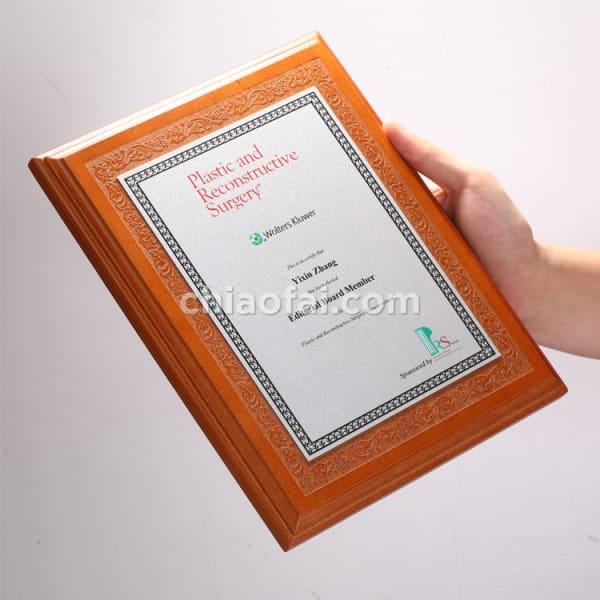 欅木色珠光鋁片獎牌 (1)