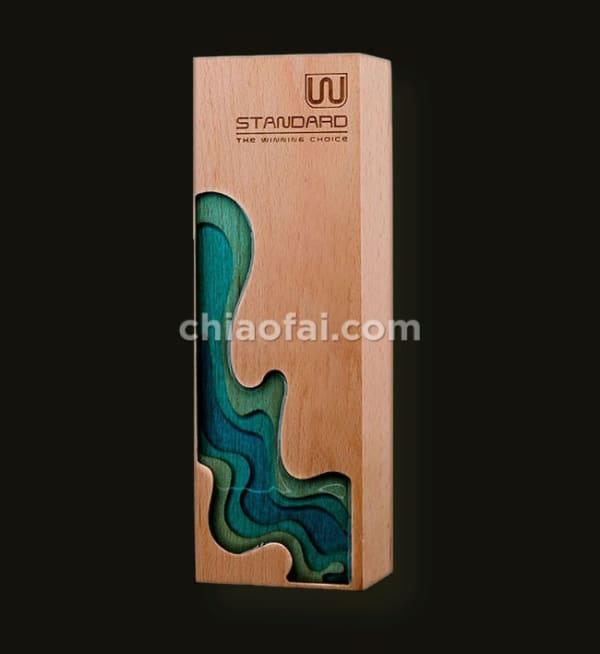 實木雕刻樹脂獎杯 (2)