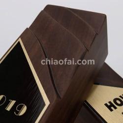 黑胡桃實木鋁板獎盃 (4)