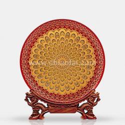 042 吉桑花盤(紅藍) (1)