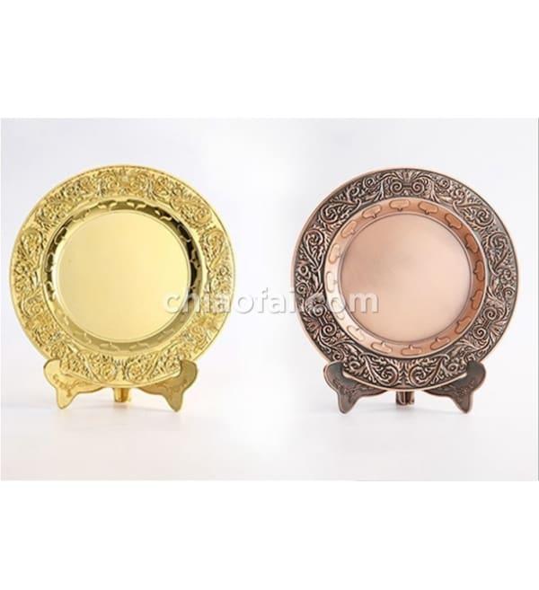 金屬紀念盤(金銀銅色)4