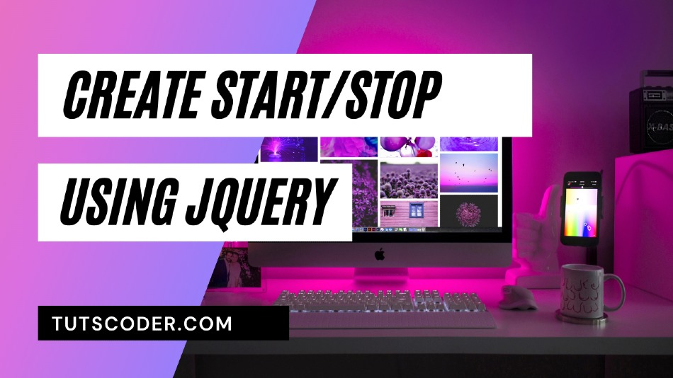 How to create start/stop timer using jQuery