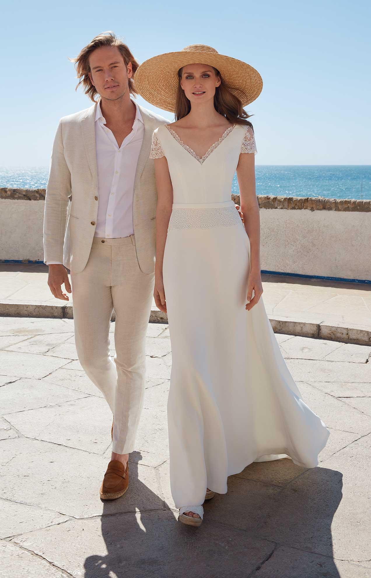 vestido novia en playa valencia