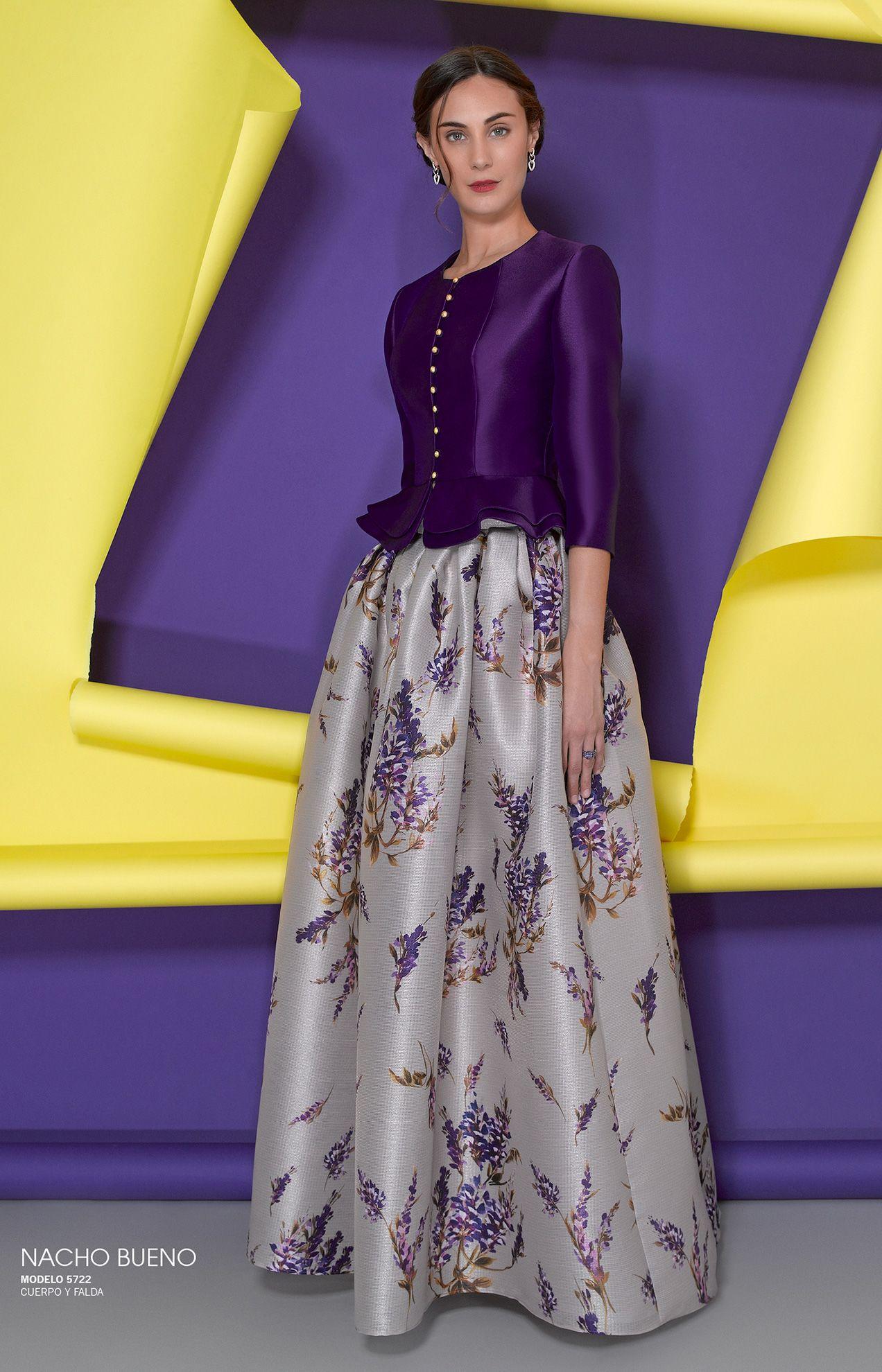 vestido de fiesta color morado valencia