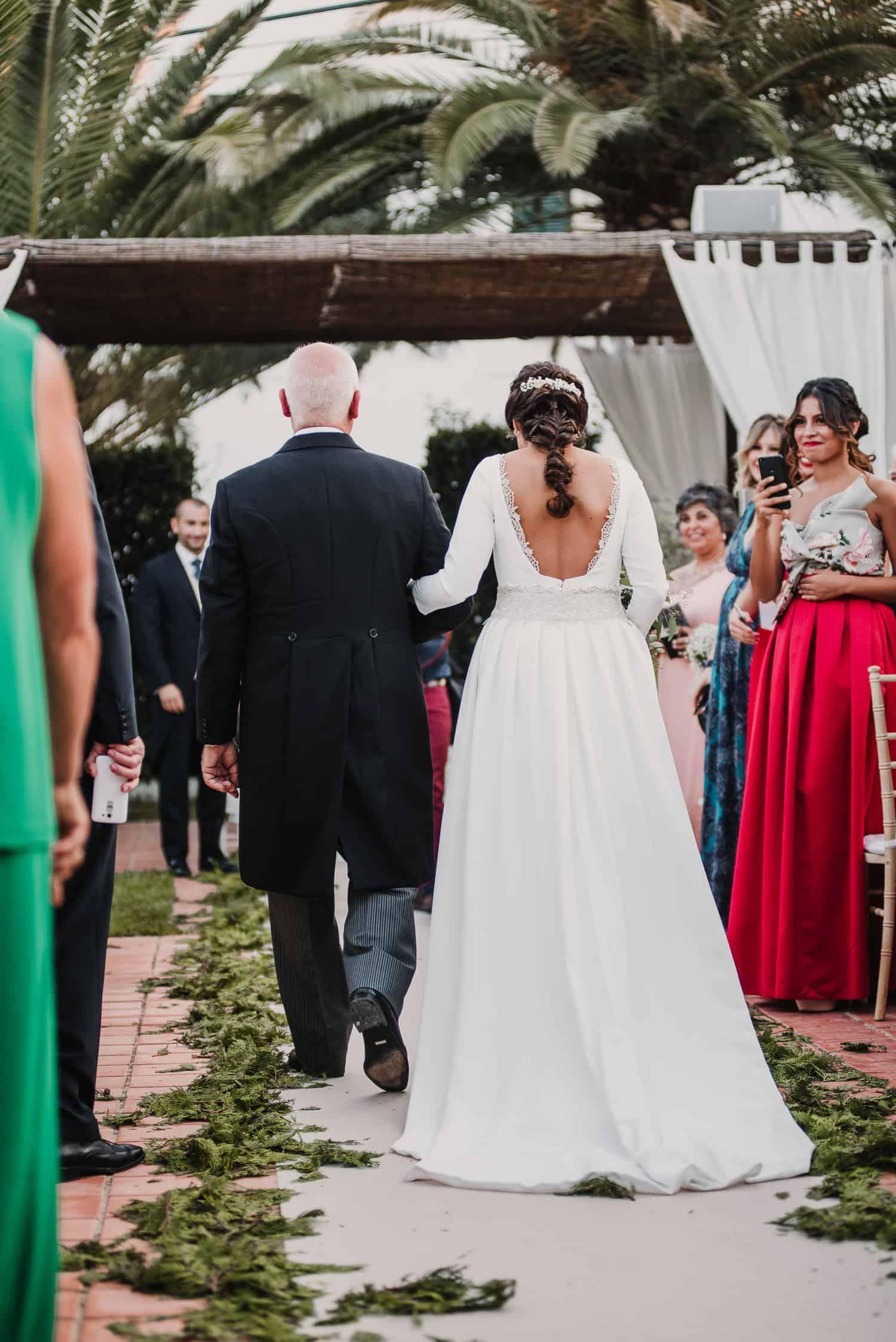 espalda vestido de novia