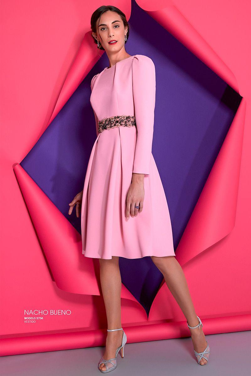 vestido para boda fiesta rosa