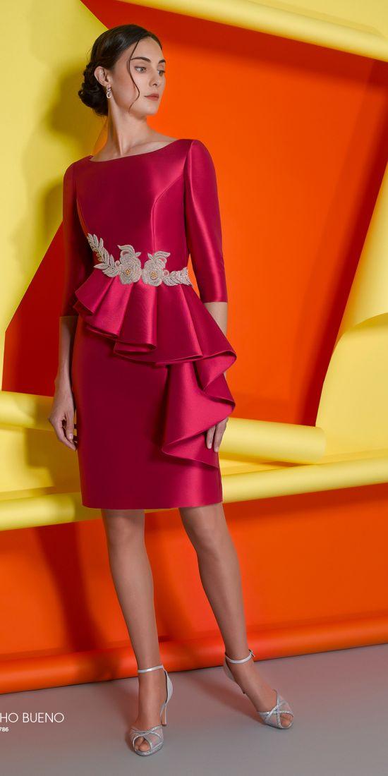 vestido de madrina fucsia en valencia