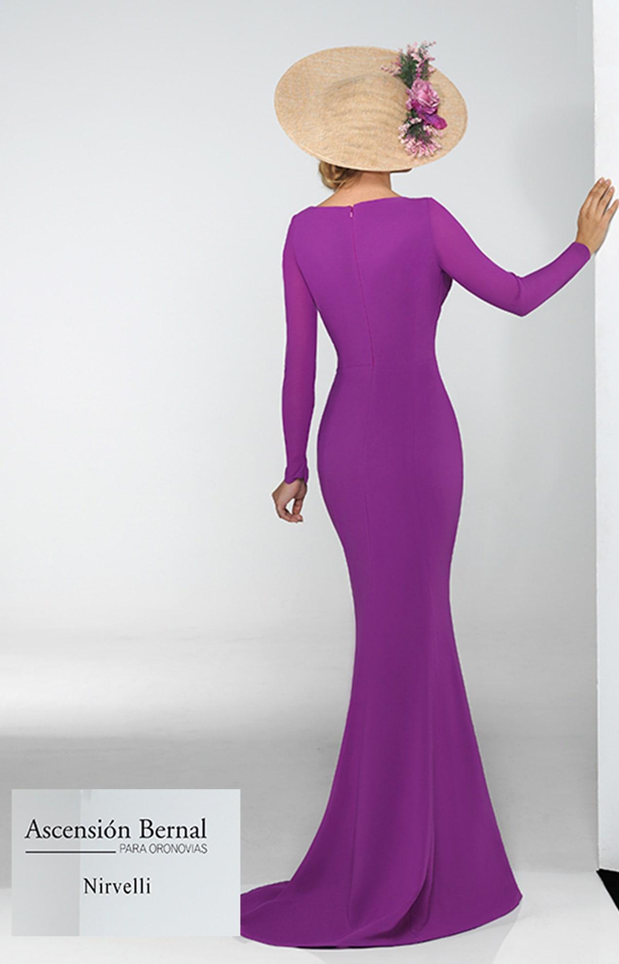 vestido gala color lila valencia
