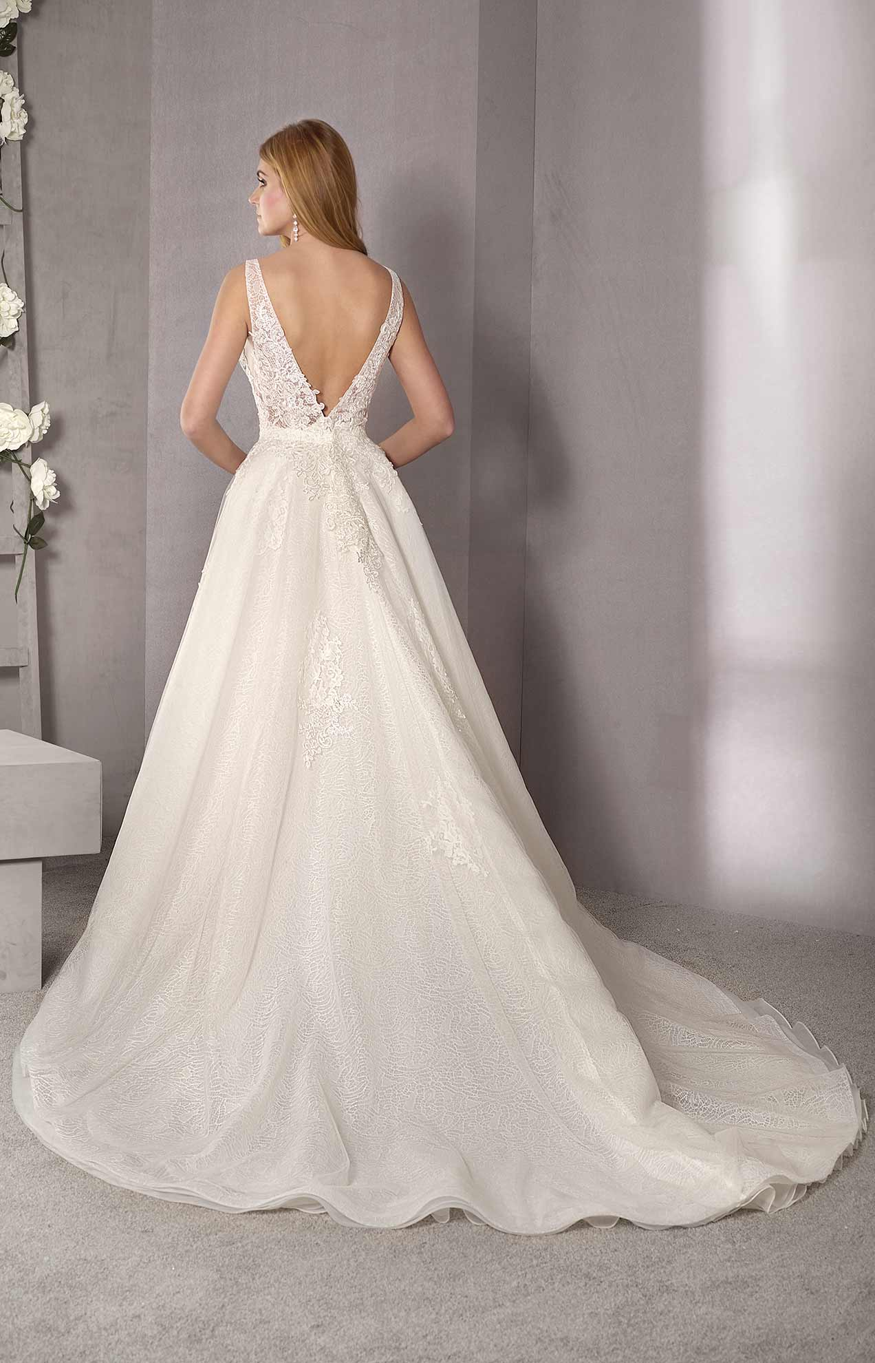 vestido novia ajustado valencia