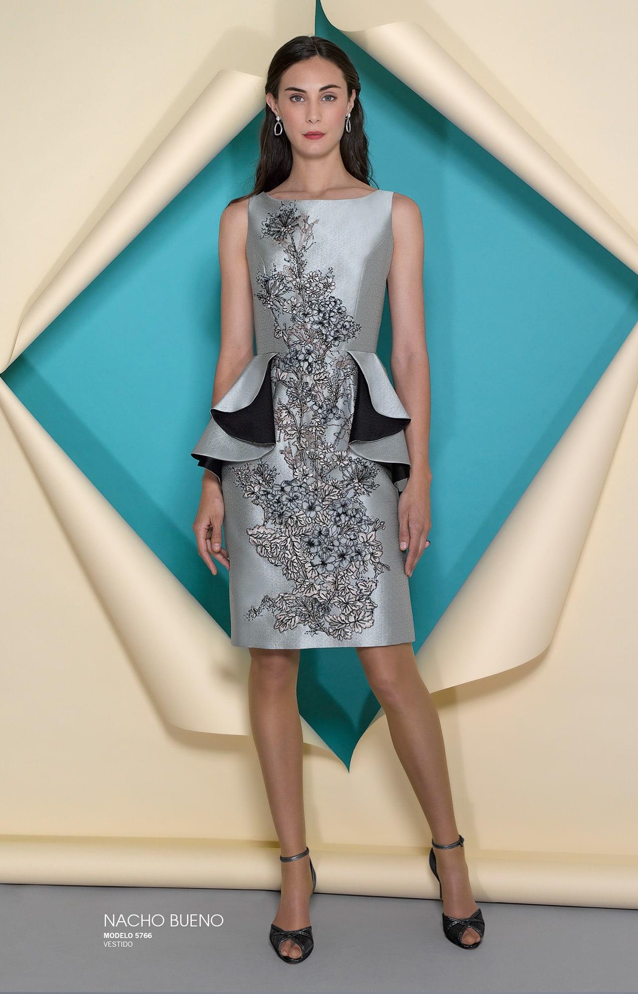 vestido gris de fiesta en valencia