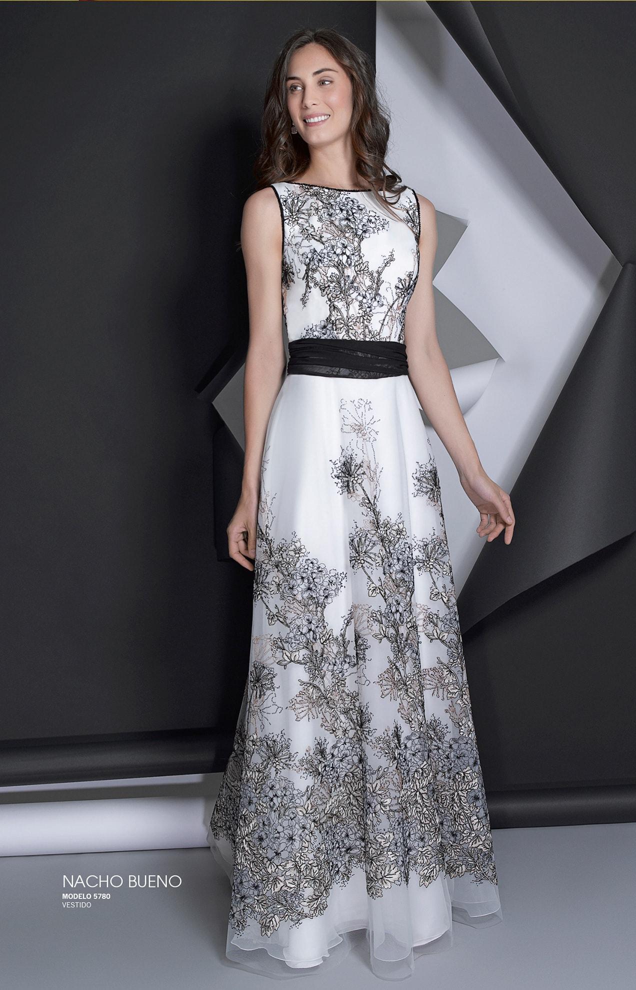 vestido de gala color blanco valencia