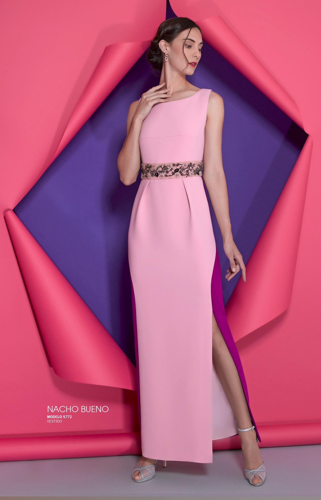 vestido gala de color rosa en valencia