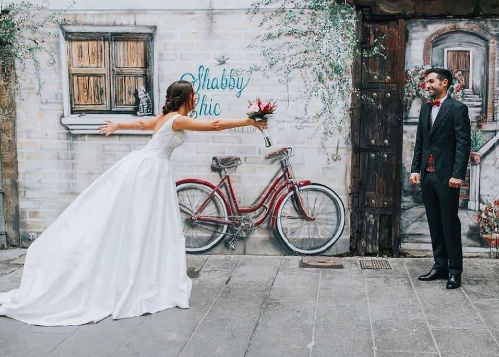sesión de fotos de boda en el carmen valencia
