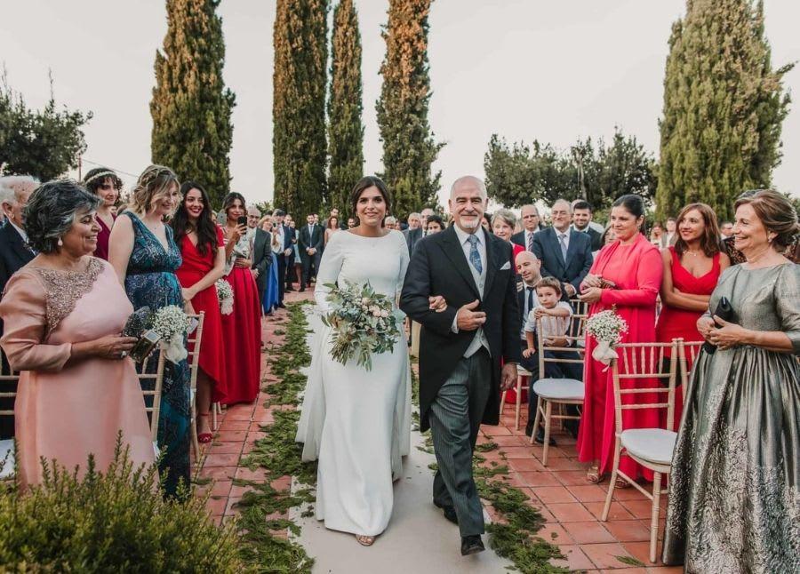 vestido de novia en masia