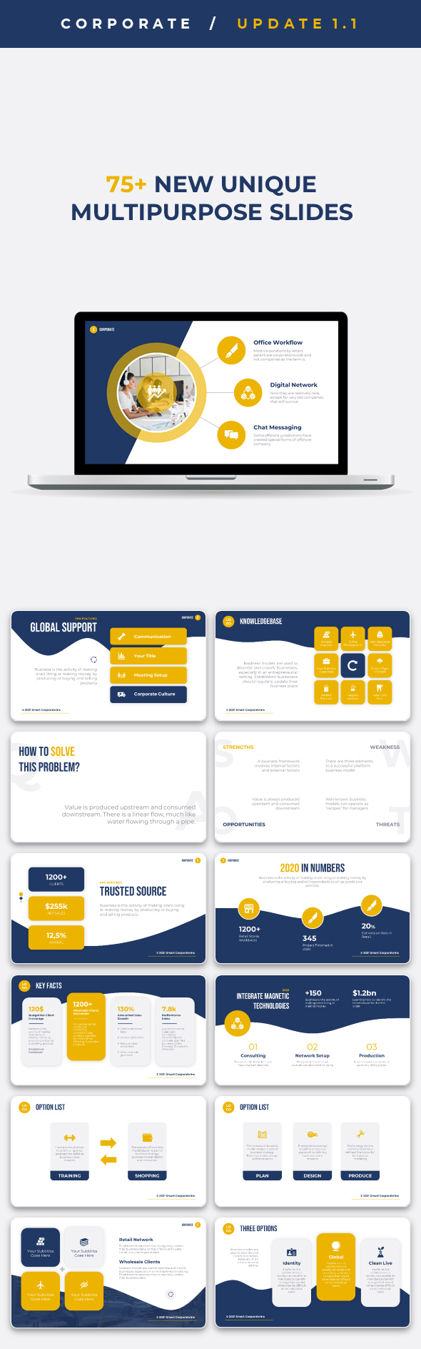 Corporate - Premium PowerPoint Template for Business - 1
