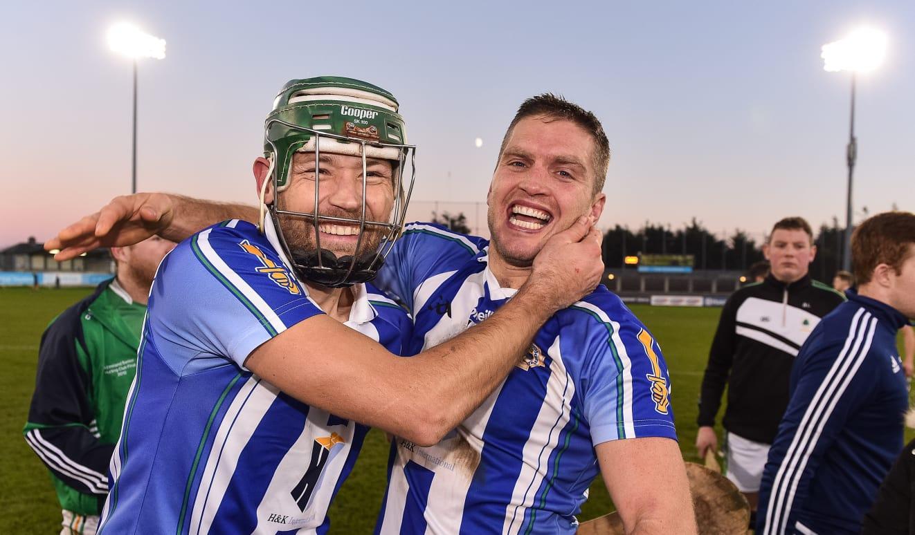 David Curtin and Conal Keaney celebrate following Ballyboden St Enda's 2018 Dublin Senior Hurling Championship success.