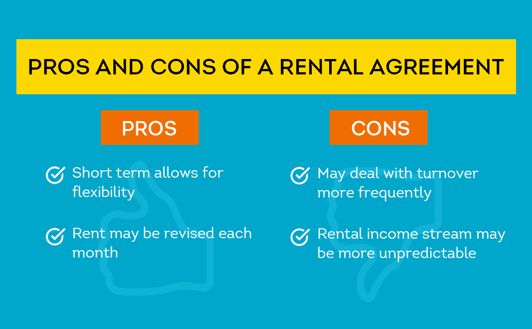 pros and cons of a rental agreement