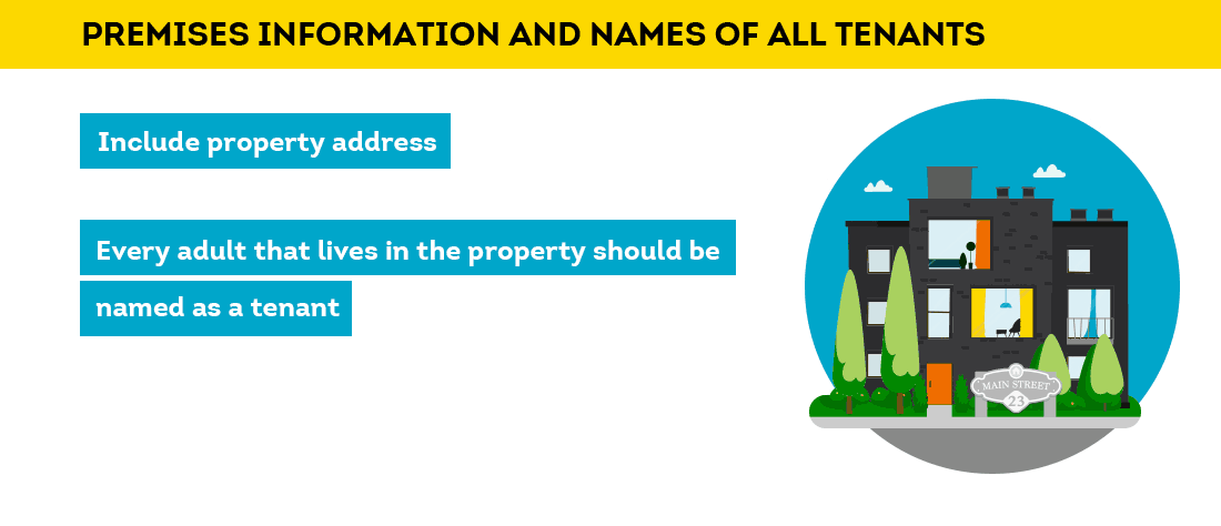 premises information and tenant names