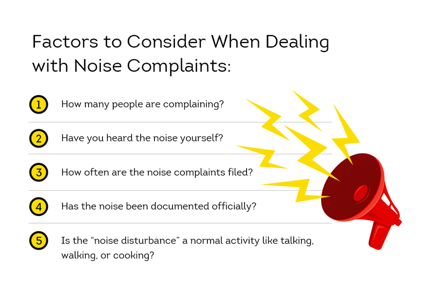 what to consider when addressing noise problems