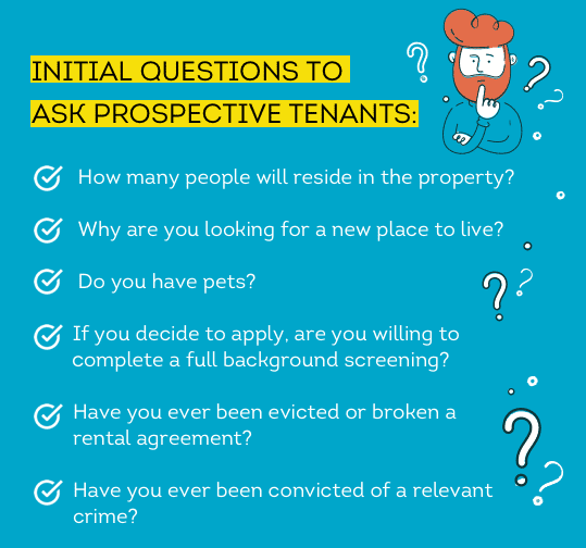 Questions to ask prospective tenants