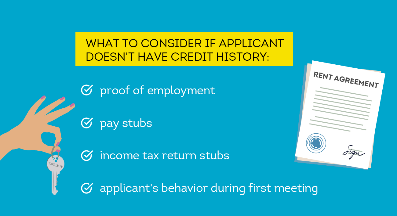 what to consider if applicant doesn't have credit history