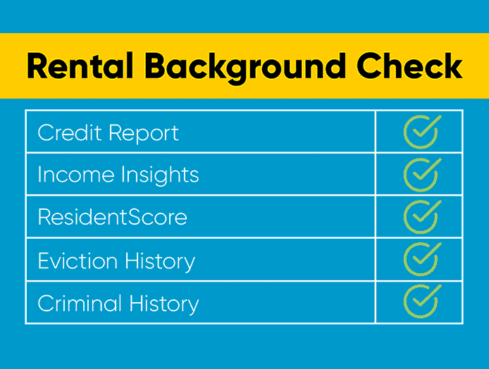 What does a background check consist of checklist