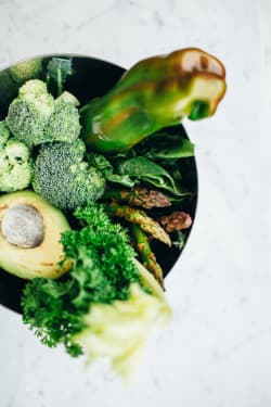 green vegetables to deal with anxiety