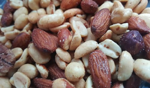 peanuts and almonds