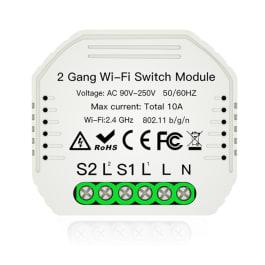 Przekaźnik dopuszkowy gniazdko WiFi podwójny