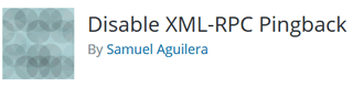 Disable XML-RPC Pingback