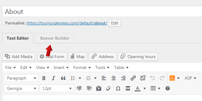 Beaver Builder Editor