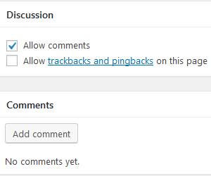 Allow Comments