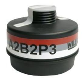 Cartouche anti-gaz A2B2P3 pour masque anti-gaz à système cartouche Honeywell standard RD40 photo du produit