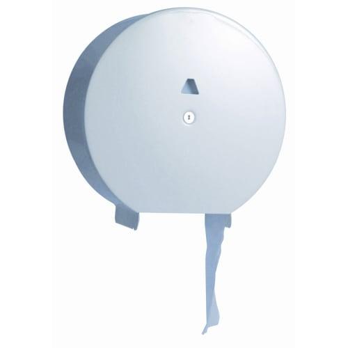 Distributeur de papier toilette blanc rouleau géant métal photo du produit
