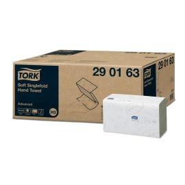 Essuie-mains plié blanc 2 plis 25 x 23 cm certifié Ecolabel photo du produit