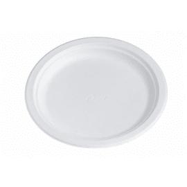 Assiette fibres végétales ronde Ø220mm blanc chinet photo du produit