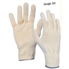 Gant de manipulation coton sans couture jauge 10 taille 9 (homme) photo du produit